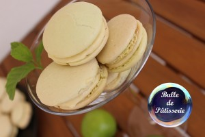 Macarons Mojito : citron vert – menthe –rhum blanc