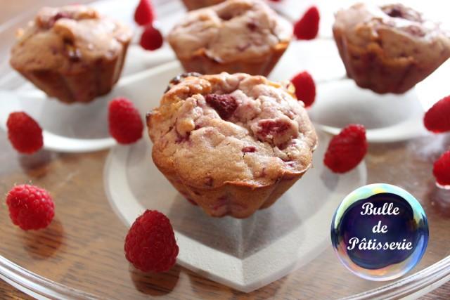 Pâtisserie : muffins framboise - chocolat blanc