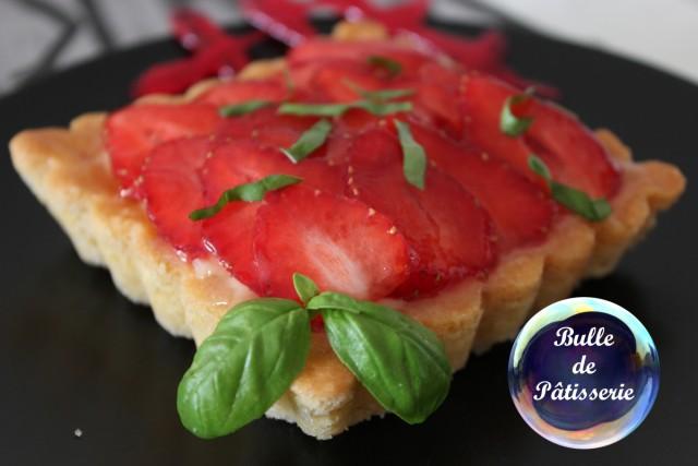Tartelette fraises-basilic
