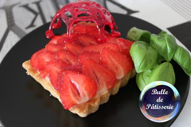Dessert : tartelettes fraises-basilic