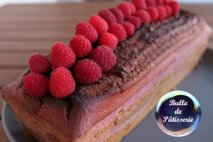 Cake marbré Framboises-Pistaches