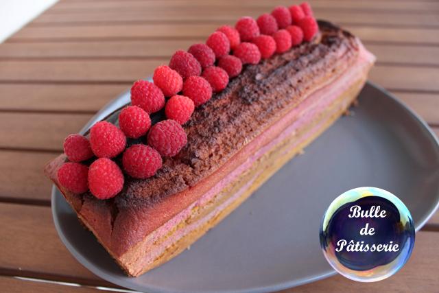 Recette du cake marbré framboises-pistaches
