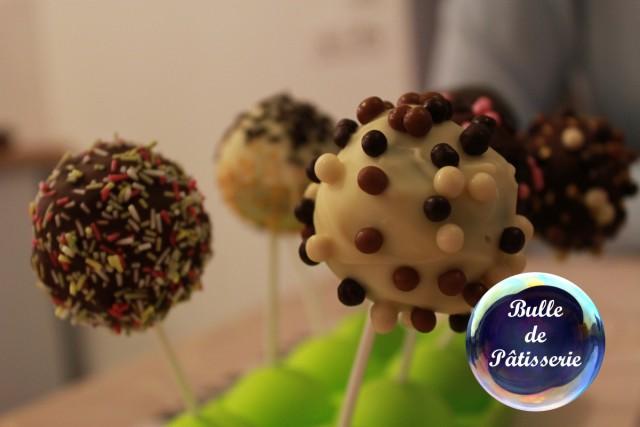 Pâtisserie : cakepops au chocolat