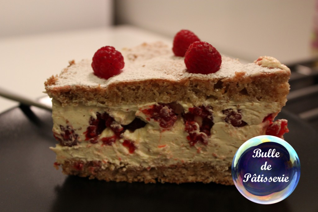 Dessert : le framboisier framboises-spéculoos