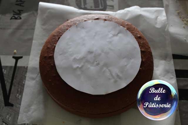 Gâteau damier : découpage des cercles