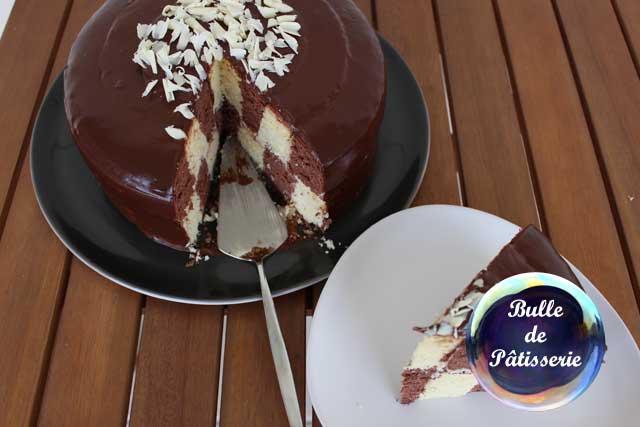 Recette : le gâteau damier aux 2 chocolats et à l'amande