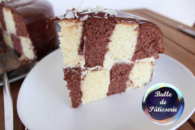 Pâtisserie : le gâteau damier