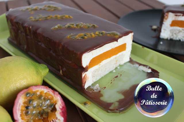 Bavarois passion,citron,chocolat