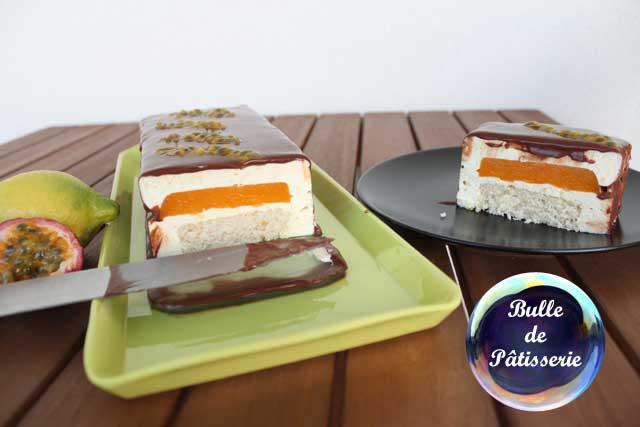 Entremet : bavarois passion-citron-chocolat