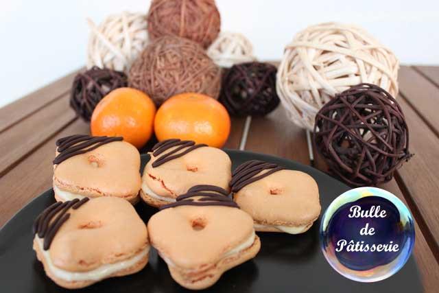 Dessert : macarons pas ronds à la clémentine