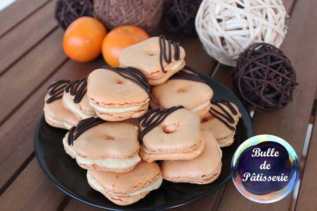 Mignardises : mes macarons pas ronds à la clémentine