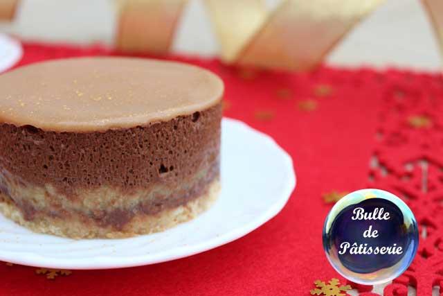 Recette : entremet poires-chocolat-caramel