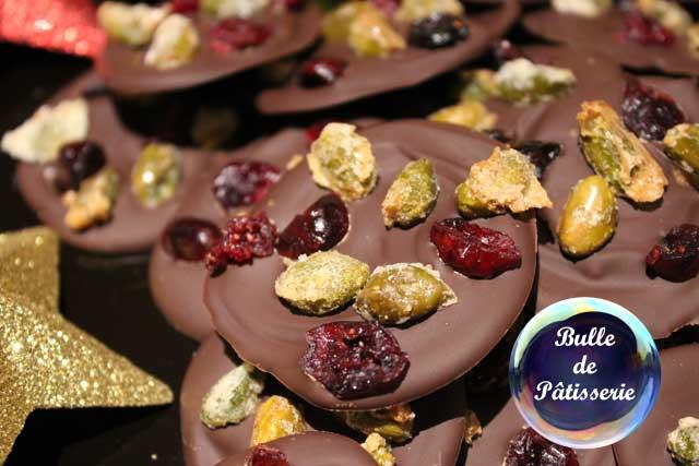 Recette de Noël : mendiants pistaches-cranberries