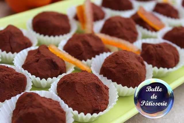 Chocolats de Noël : les truffes chocolat noir-orange