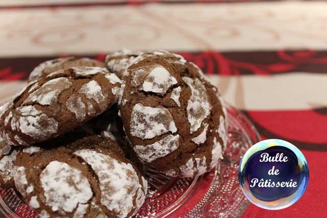 Mignardises : craquelés au chocolat