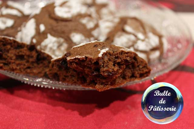 Recette : les craquelés au chocolat, biscuits moelleux