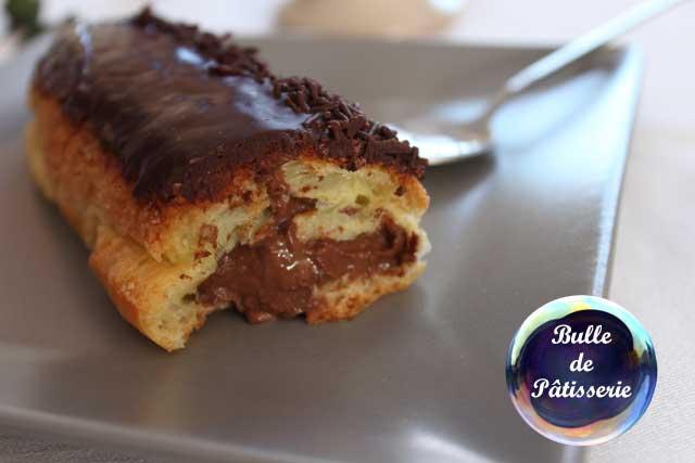 L'éclair au chocolat : pâte à choux et crème pâtissière au chocolat