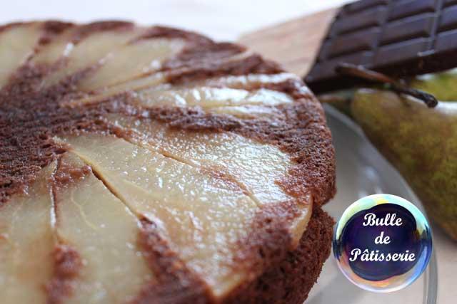 Recette : gâteau léger poires-chocolat