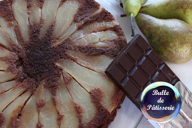 Pâtisserie facile : gâteau léger poires-chocolat