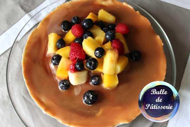 Pâtisserie facile : cheesecake fraises-caramel au beurre salé