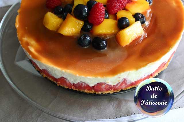 Dessert sans cuisson : cheesecake fraises-caramel beurre salé