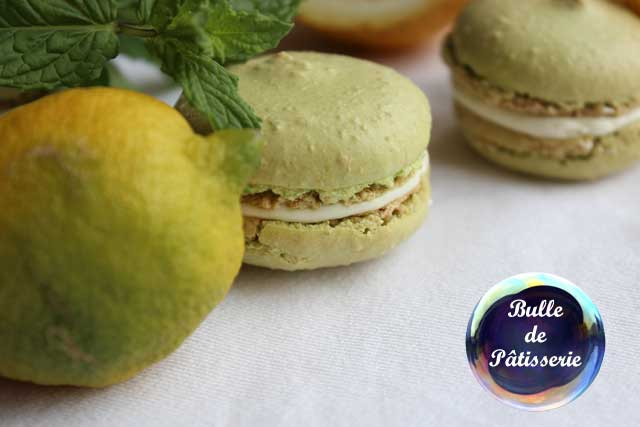 Dessert estival : macarons mojito-chocolat blanc