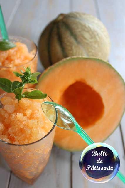 Dessert estival : granité melon