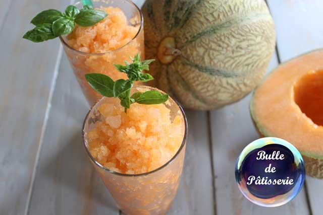 Recette : granité melon