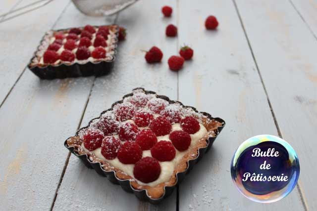 Pâtisserie : tartelettes framboises et crème mascarpone