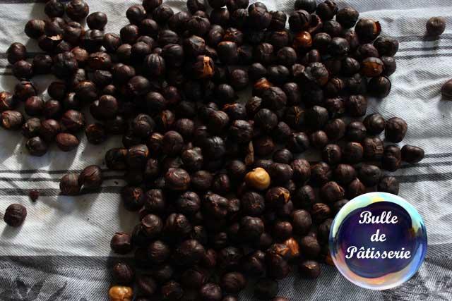 Nutella maison : torréfaction des noisettes