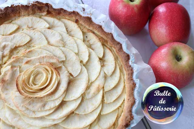 Dessert : tarte amandine aux pommes
