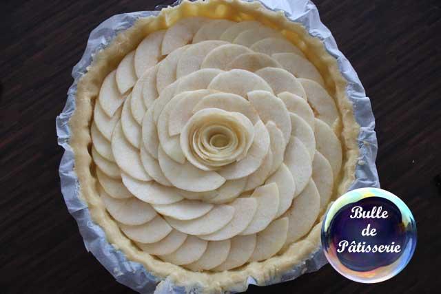 Tarte amandine aux pommes : avant la cuisson