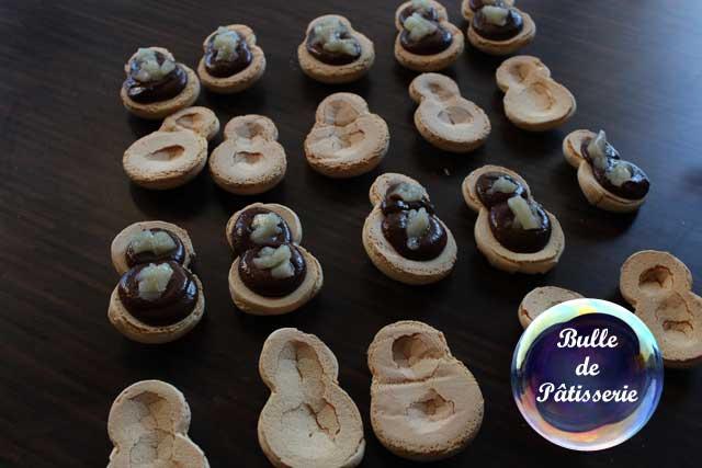 Réalisation des macarons poire-chocolat