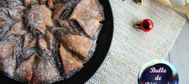 Recette de Noël : brioche flocon de neige au chocolat