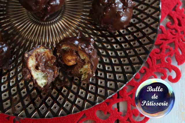 Pâtisserie de Noël : petit choux façon Ferrero Rochers