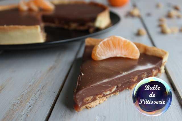 Dessert : la tarte caramel-cacahuètes-chocolat