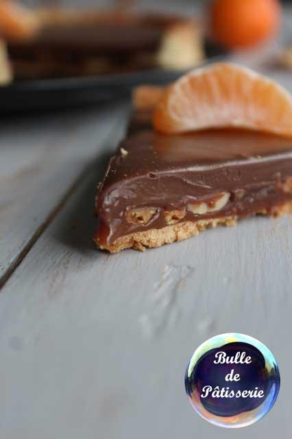 Dessert : tarte caramel-cacahuètes-chocolat