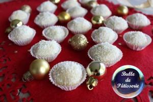 Truffes chocolat blanc-citron-noix de coco