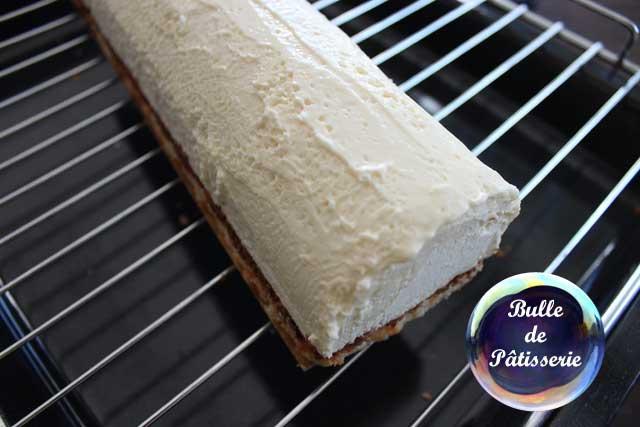Nappage buche de noel chocolat blanc