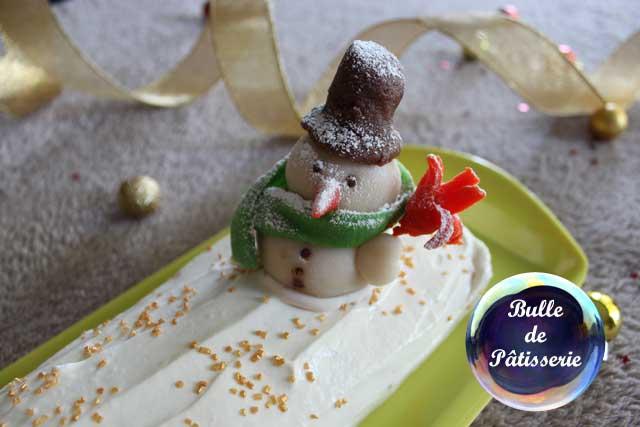 Pâtisserie : bûche de Noël tout citron