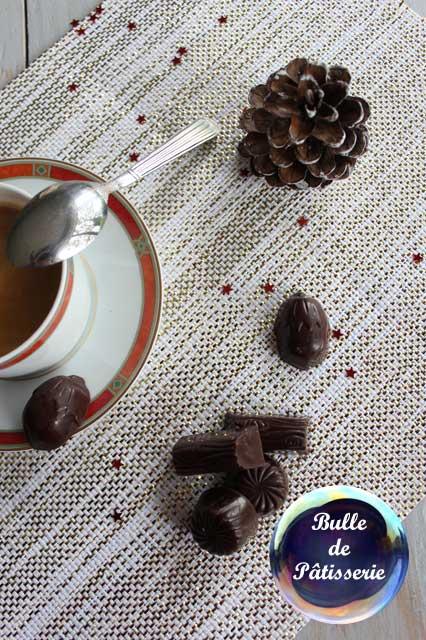 Gourmandises de Noël : chocolats ganache caramel