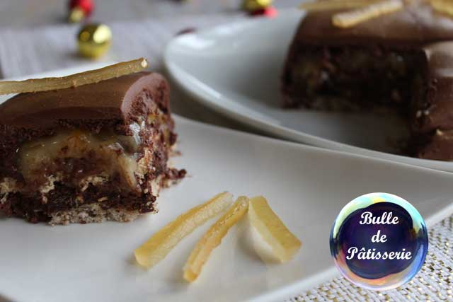 Dessert de fête : entremets chocolat-noisettes-citron