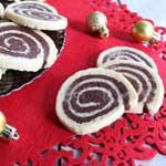 Recette de Noël : sablés spirales chocolat-noix de coco