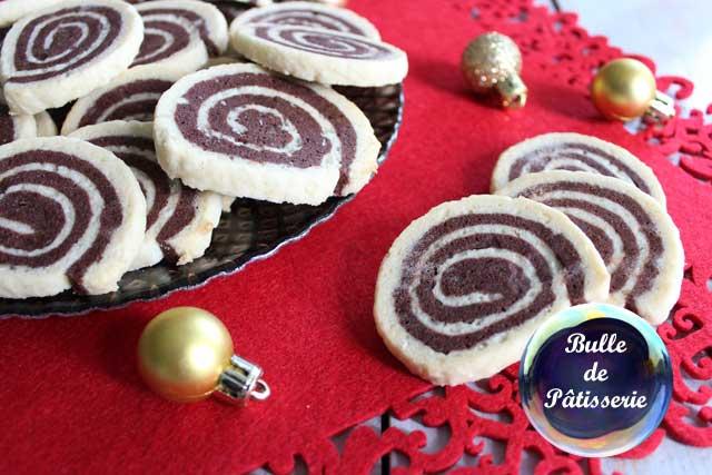 Pâtisserie de Noël : sablés spirales chocolat-noix de coco