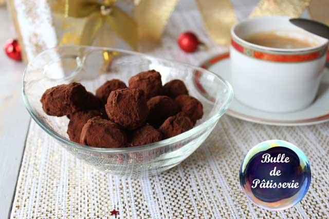 Recette de Noël : truffes chocolat noir-rhum