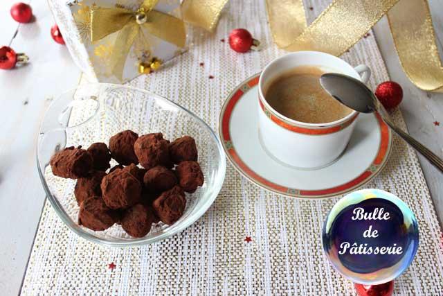 Pâtisserie de Noël : truffes chocolat noir-rhum