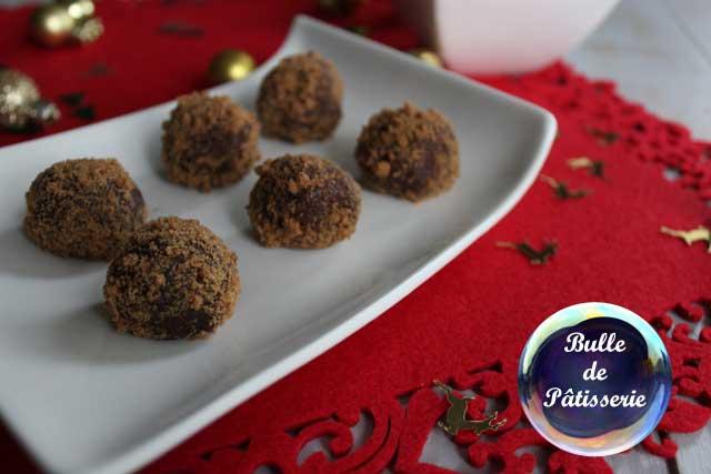 Pâtisserie : truffes chocolat-speculoos