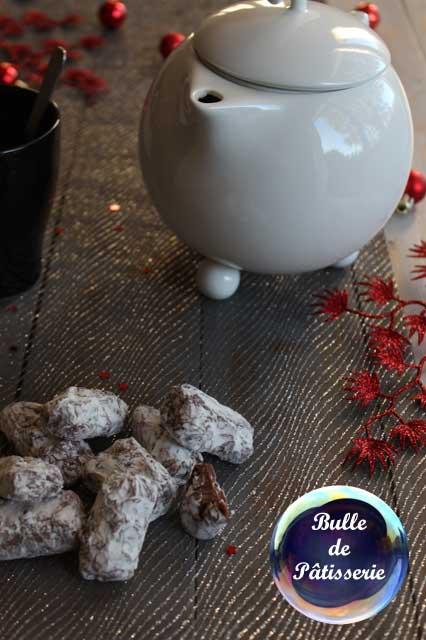Pâtisserie de Noël : truffes muscadines chocolat au lait-Cointreau
