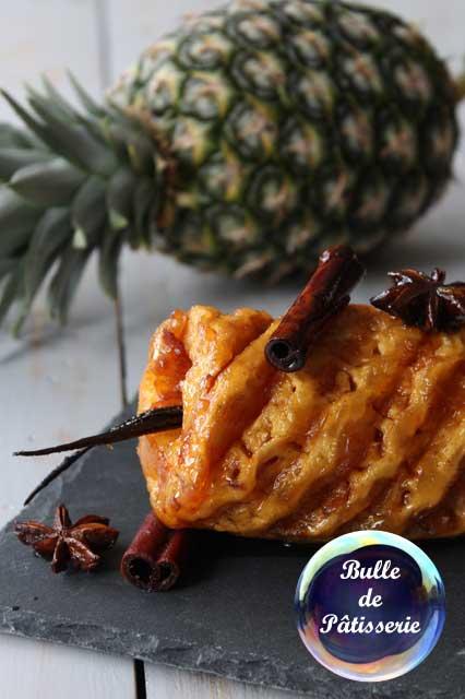 Pâtisserie : ananas rôti aux épices