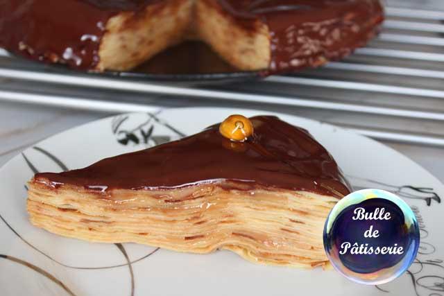 Recette Chandeleur : gâteau de crêpes caramel-chocolat